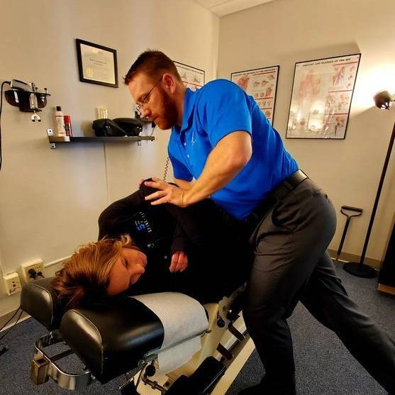 Chiropractor Cheyenne WY Dr Lehmkuhler With Patient